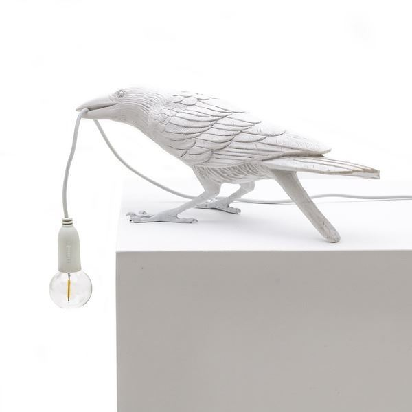 "BIRD LAMP ""PLAYING"" BLANCO"