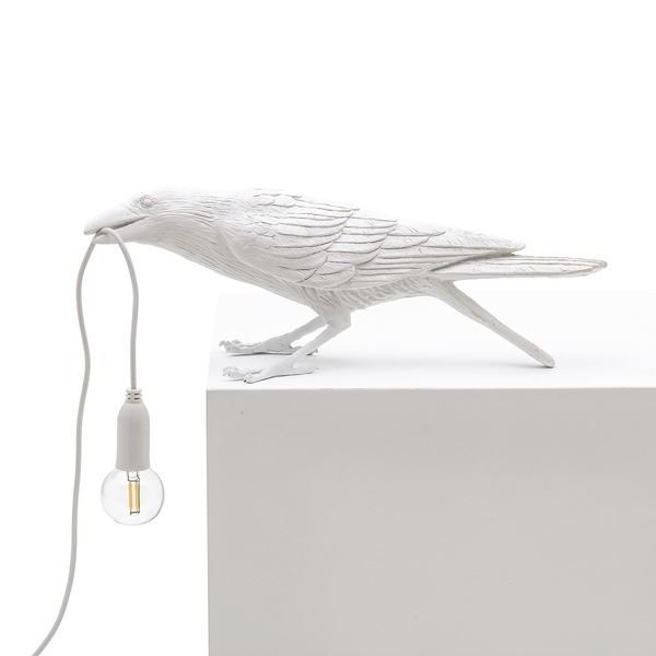"BIRD LAMP ""PLAYING"" BLANCO (1)"
