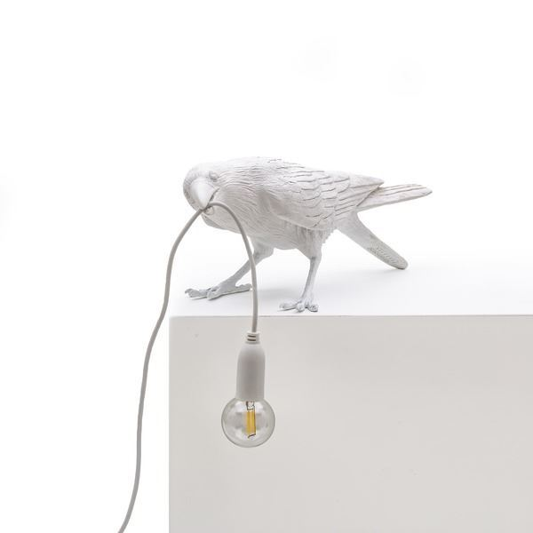 "BIRD LAMP ""PLAYING"" BLANCO (2)"