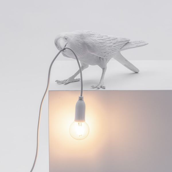 "BIRD LAMP ""PLAYING"" BLANCO (3)"