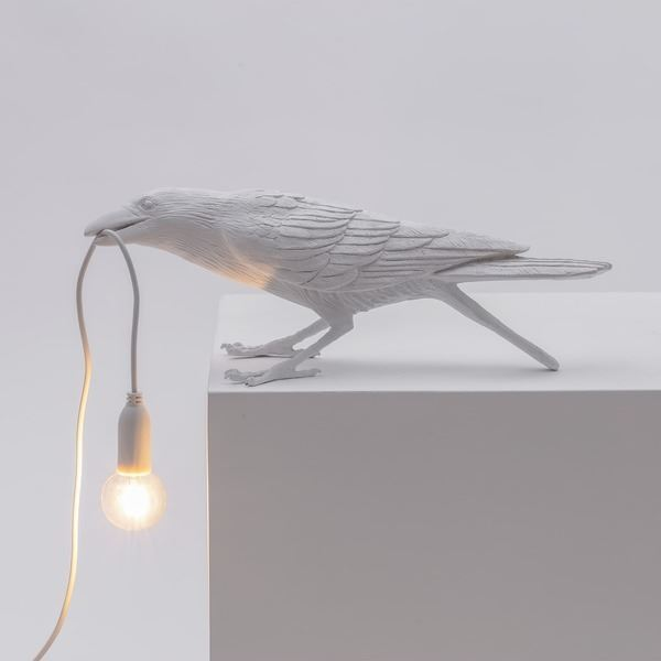 "BIRD LAMP ""PLAYING"" BLANCO (4)"