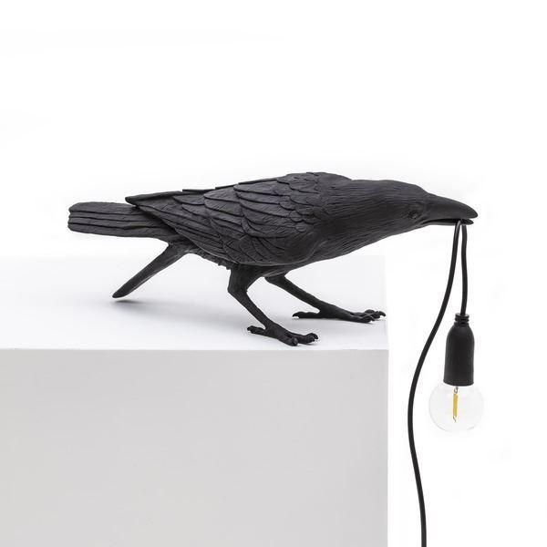 "BIRD LAMP ""PLAYING"" NEGRO (1)"