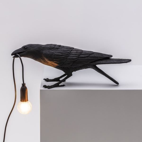 "BIRD LAMP ""PLAYING"" NEGRO (2)"