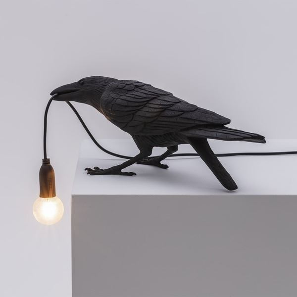 "BIRD LAMP ""PLAYING"" NEGRO (4)"