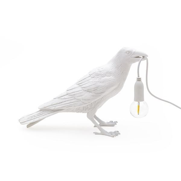 "BIRD LAMP ""WAITING"" BLANCO SELETTI"