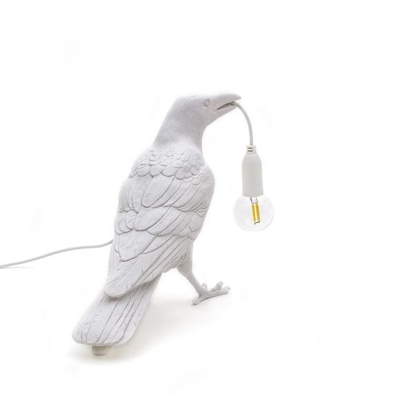 "BIRD LAMP ""WAITING"" BLANCO SELETTI (1)"