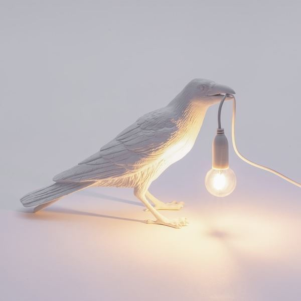 "BIRD LAMP ""WAITING"" BLANCO SELETTI (2)"