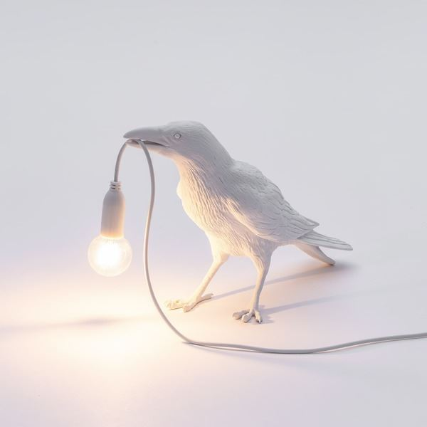 "BIRD LAMP ""WAITING"" BLANCO SELETTI (3)"