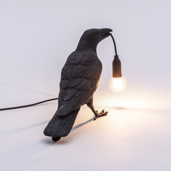 "BIRD LAMP ""WAITING"" NEGRO (1)"