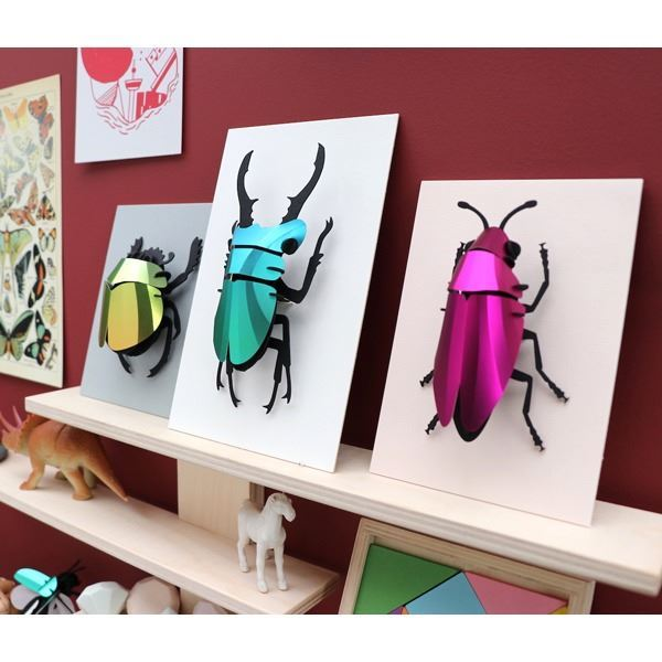 Stag Beetle Small Verde (1)
